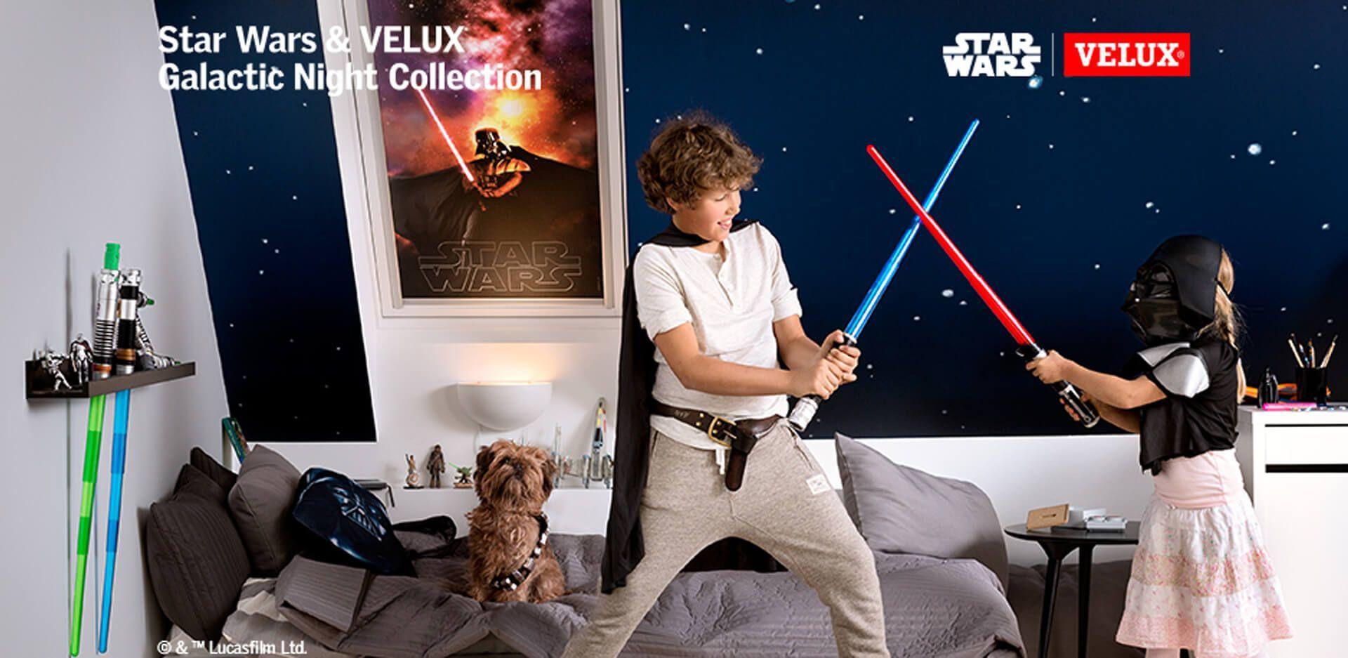 Cortinas de oscurecimiento Star-Wars para ventanas Velux, los amantes de la saga no podrán dormir sin ellas.