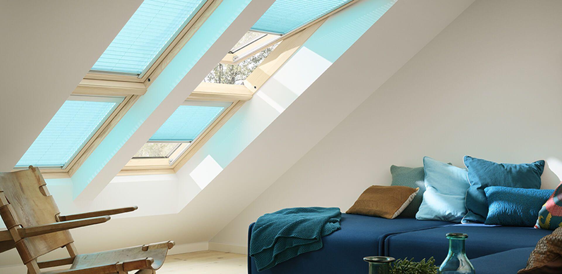 Complementos para ventanas Velux, cortinas plisadas.